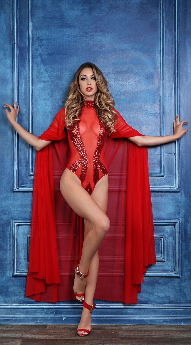 Coco Decadently Divine Cape by Allure Lingerie