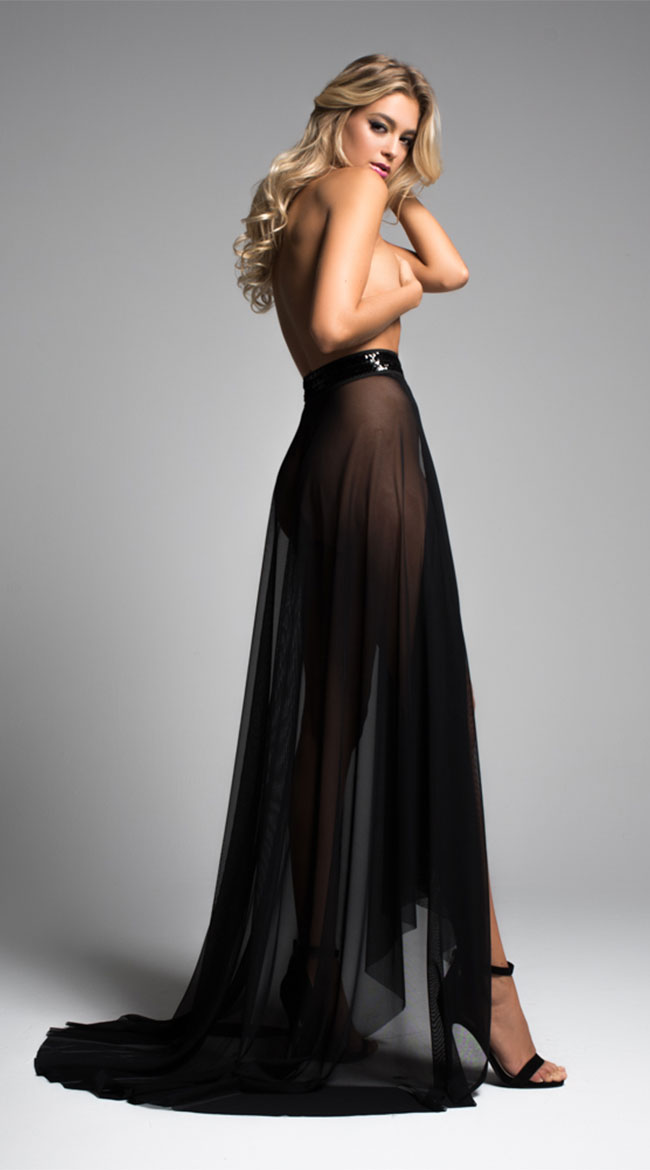 Coco Wrapped Around You Sheer Skirt by Allure Lingerie
