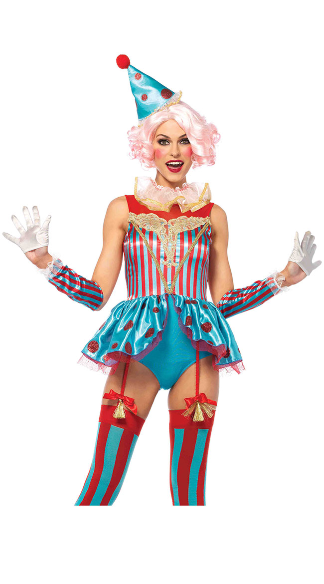 Colorful Circus Clown Costume by Leg Avenue