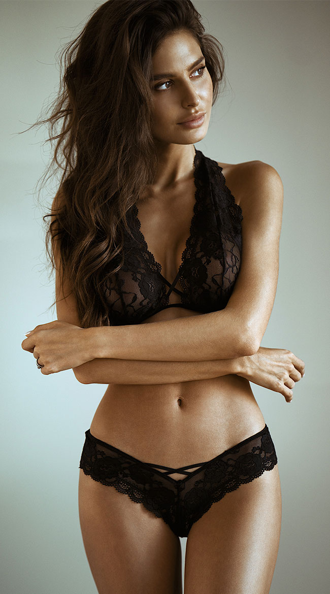 Criss-Cross Lace Bralette and Panty Set by Yandy Dreamgirl