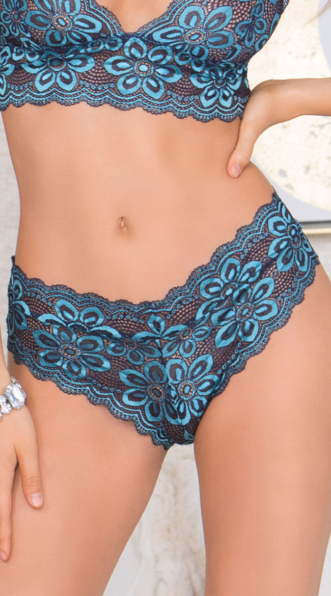 Cross Dye Lace Panty by iCollection