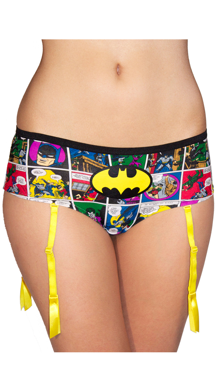 DC Comics Batgirl Comic Art Panty with Garter by XGEN Products
