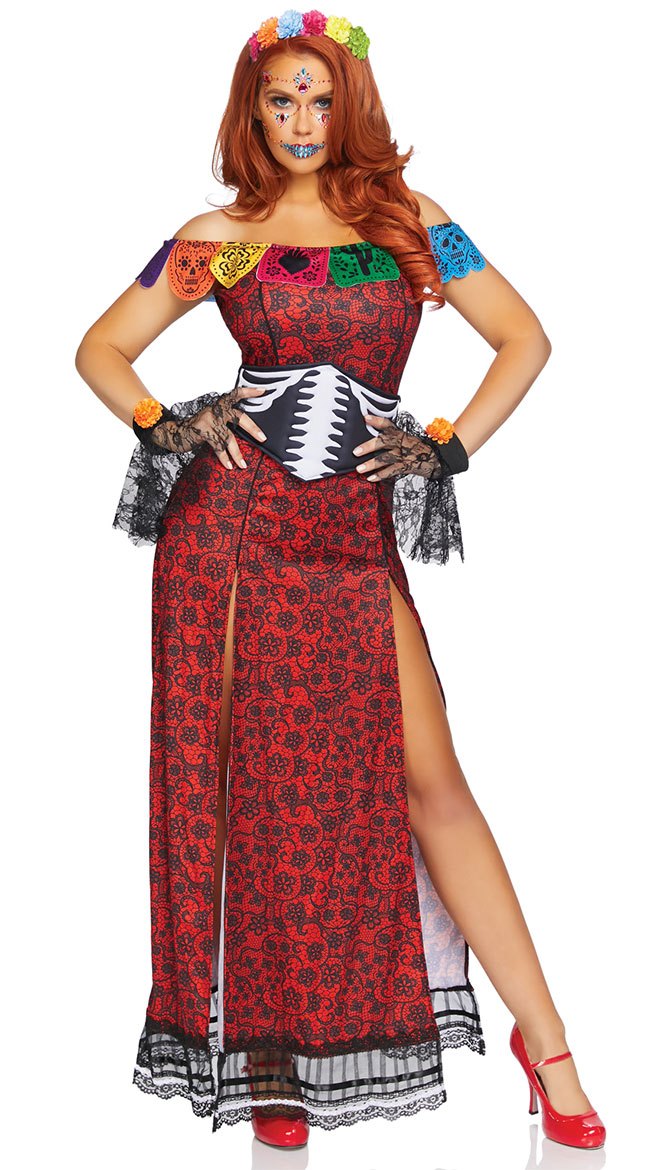 Day Of The Dead Beauty Costume by Leg Avenue
