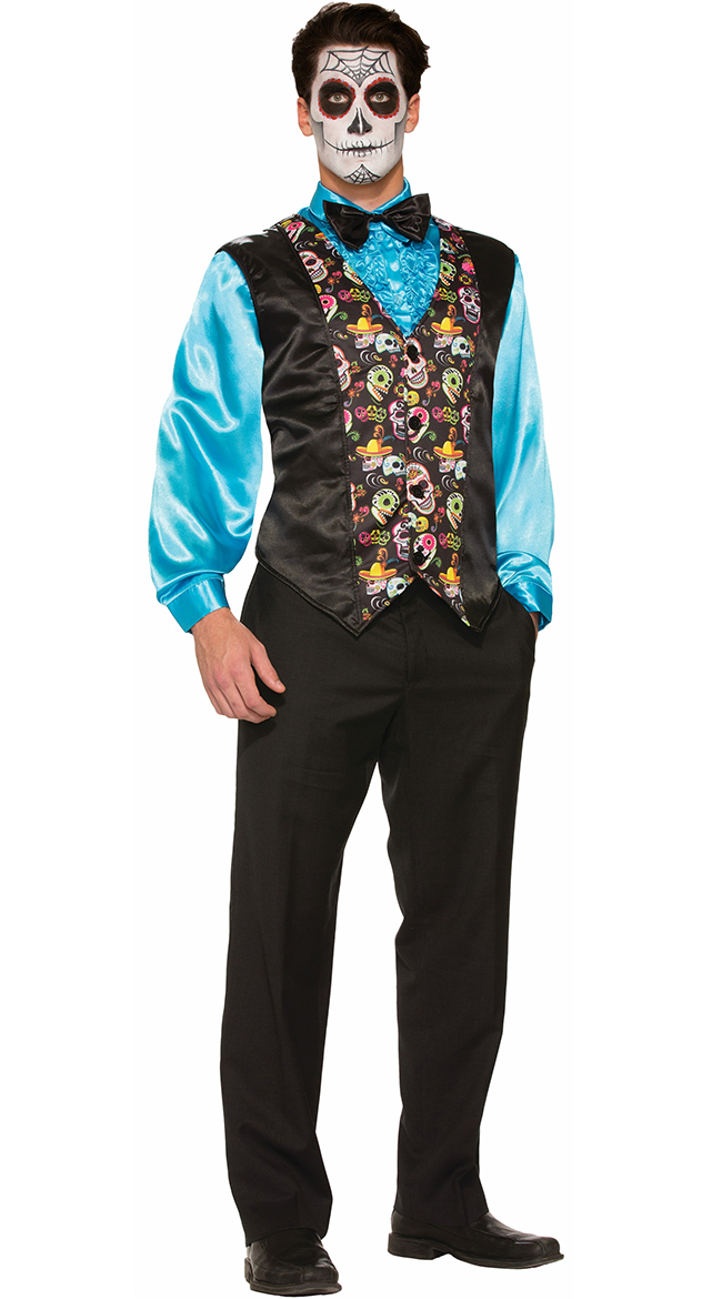 Day Of The Dead Vest by Forum Novelties
