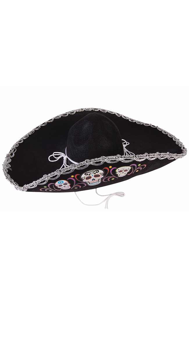 Day of the Dead Sombrero by Forum Novelties / Day Of The Dead Halloween Costume