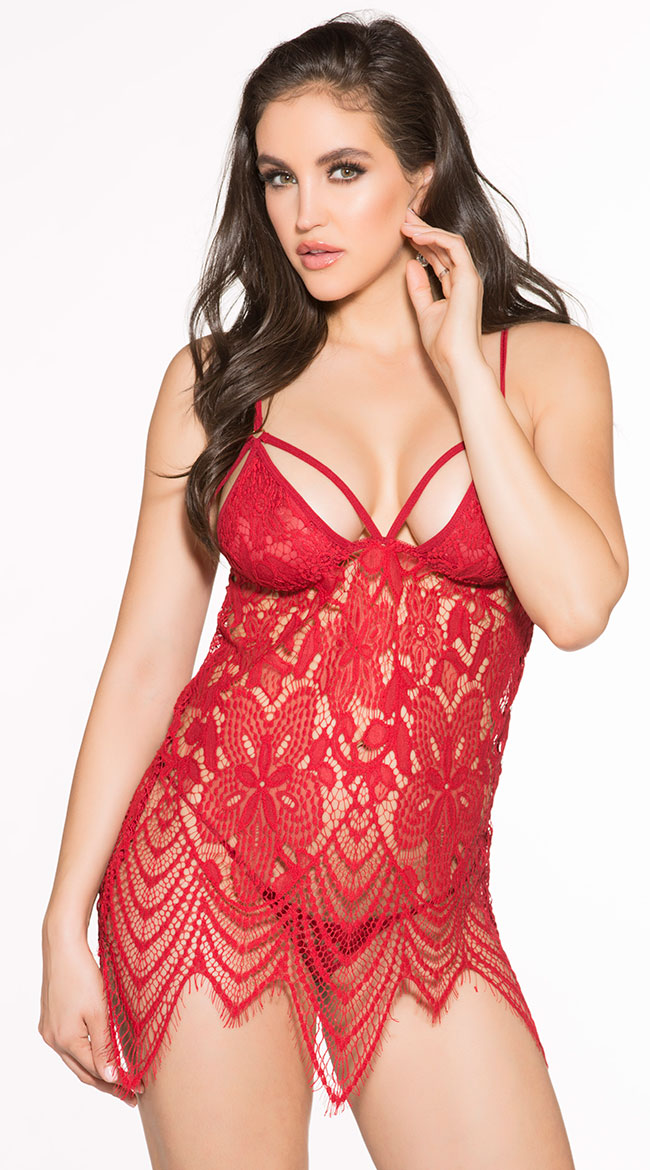 Dazzle Me Lace Chemise by Shirley of Hollywood