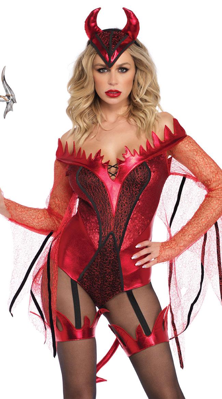Dazzling Red Devil Costume by Leg Avenue