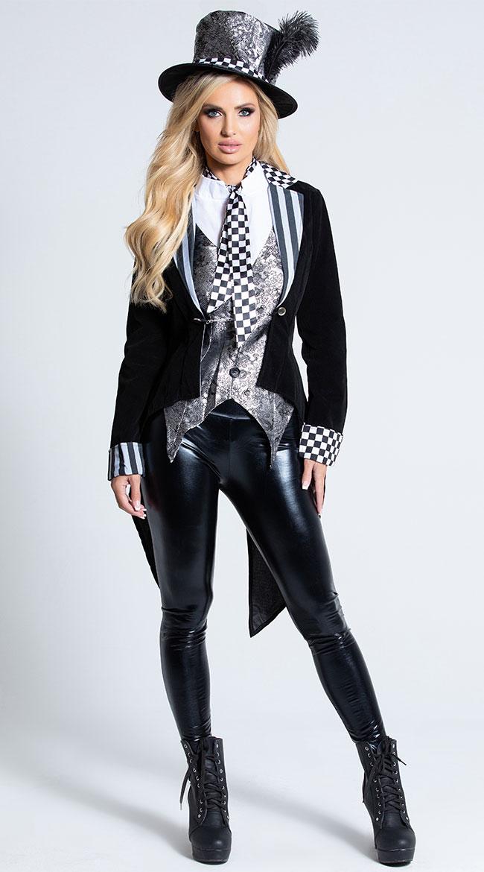 Deluxe Dark Miss Hatter Costume by Fever