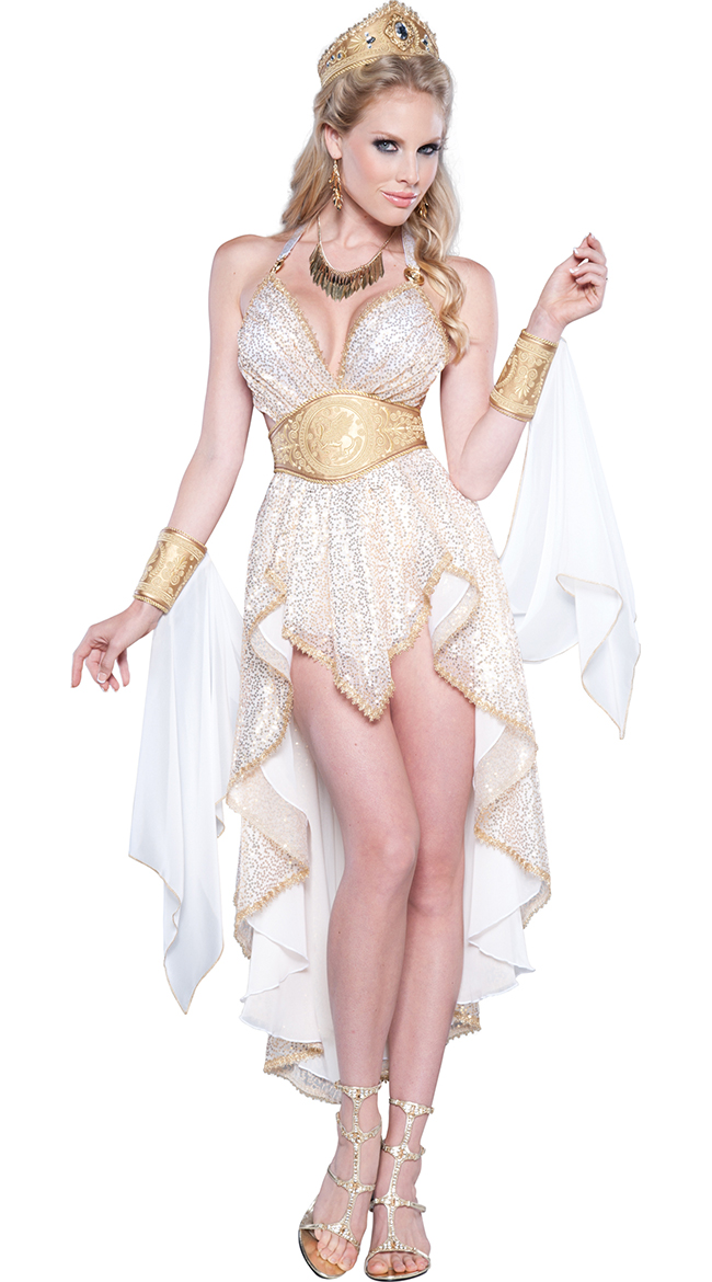 Deluxe Golden Goddess Costume by In Character Costumes