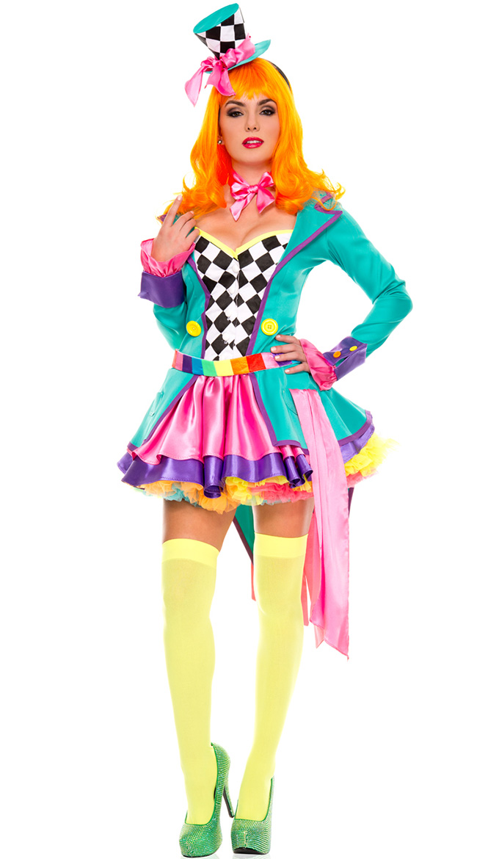 Deluxe Hatter Hottie Costume by Music Legs
