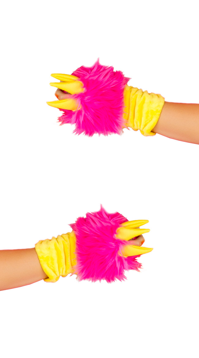 Deluxe Pink Dragon Gloves by J Valentine