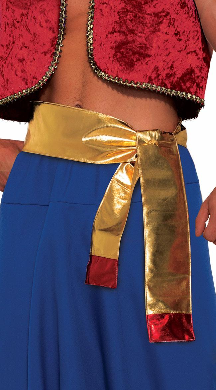 Desert Prince Gold Sash by Forum Novelties / Gold Waist Sash