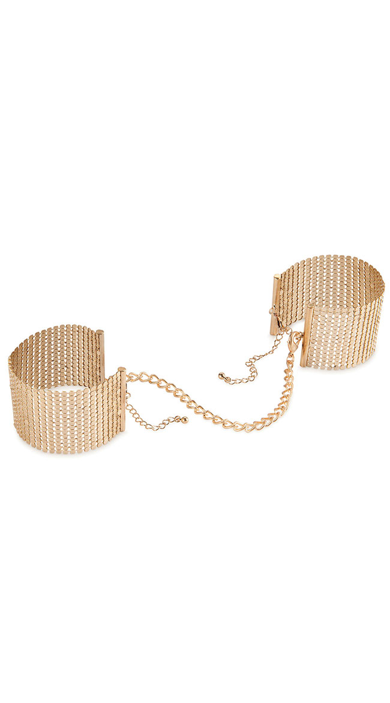 Desire Metallique Gold Handcuffs by Entrenue / Gold Mesh Handcuffs