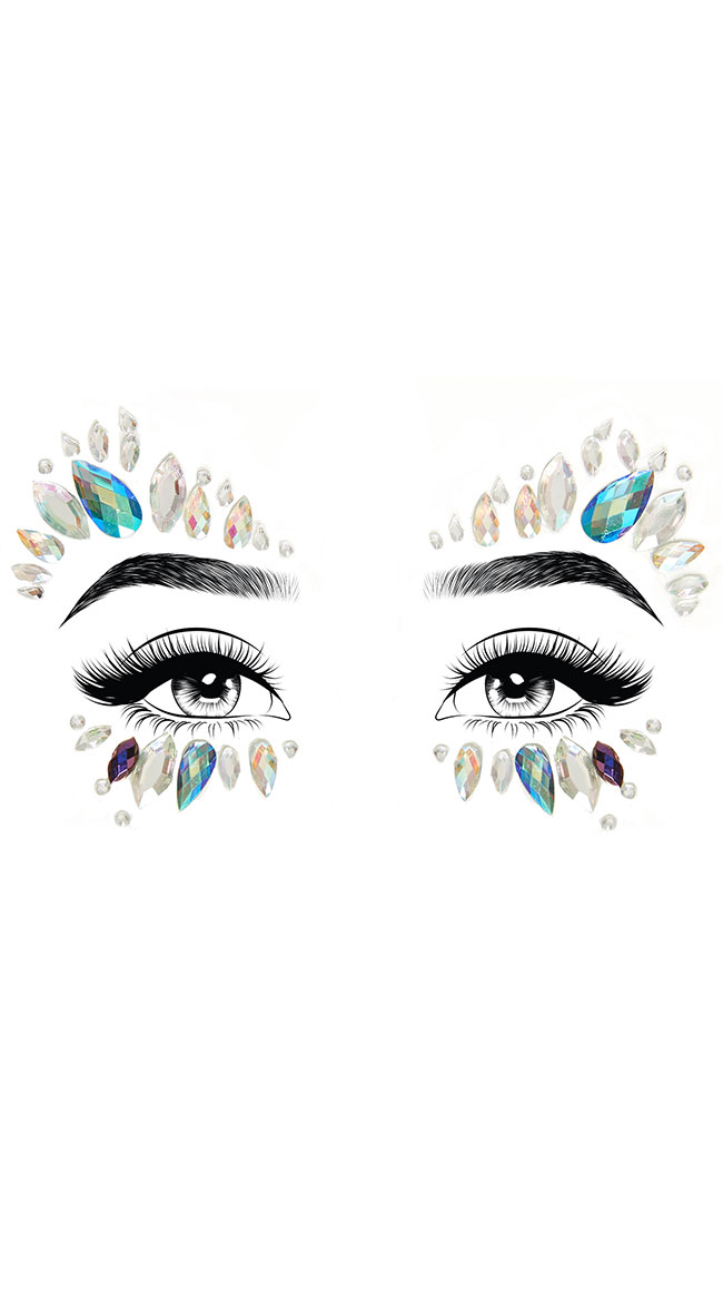Desna Adhesive Face Jewels by Leg Avenue