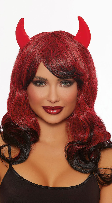 Devilish Red Wig by Dreamgirl