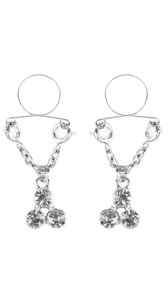 Diamond Cluster Nipple Tassels by XGEN Products - sexy lingerie