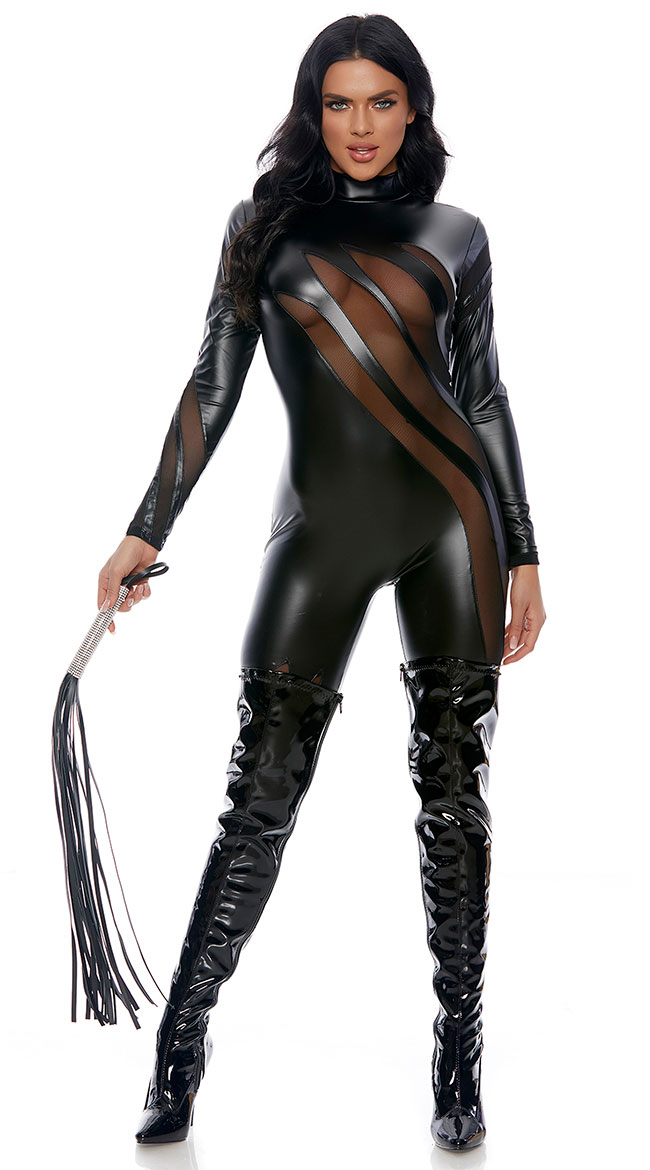 Dominatrix Faux Leather Jumpsuit by Forplay
