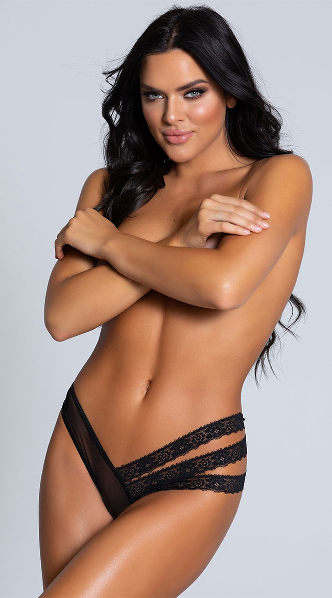 Double Take Black Mesh Panty by Coquette / Womens Panties