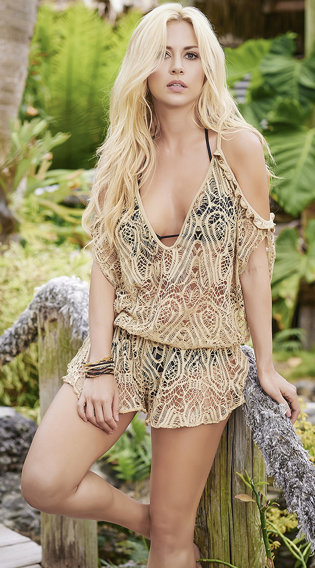 Draping Loose Cover-Up Romper by Mapale