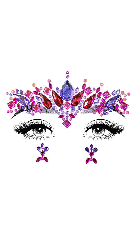 Elektra Adhesive Face Jewels by Leg Avenue