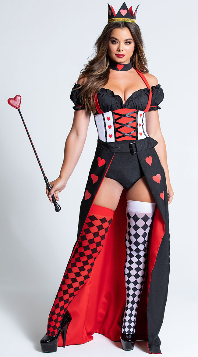Enchanting Royal Heart Queen Costume by Music Legs