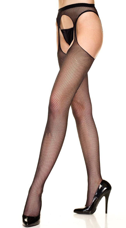Fishnet Suspender Pantyhose by Music Legs