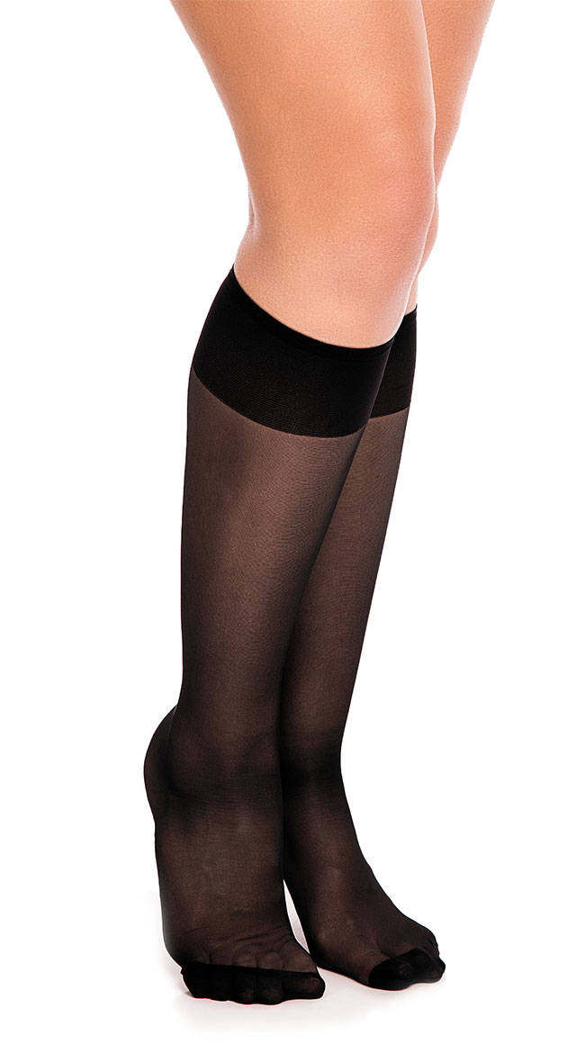 Fit 20 Knee High Stockings by Glamory Hosiery