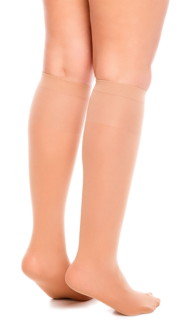 Fit 50 Semi-Opaque Knee High Stockings by Glamory Hosiery