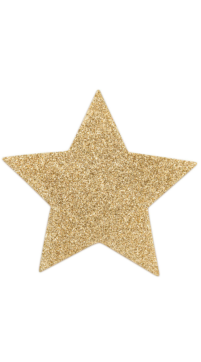 Flashy Gold Star Pasties by Entrenue / Glitter Star Pasties