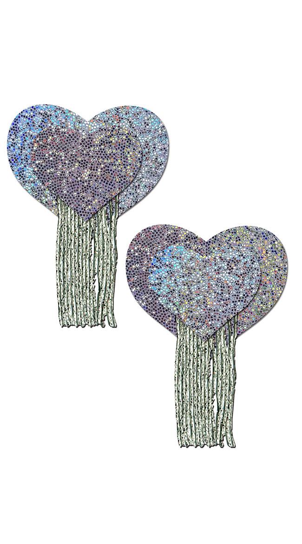 Glitter Hearts Tassel Nipple Pasties by Pastease