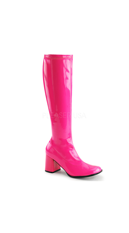 Go Go Dancin' Neon Patent Boot by Pleaser