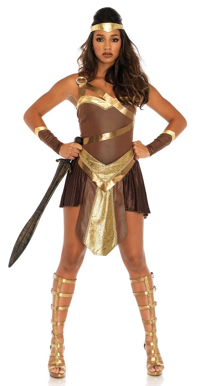Golden Gladiator Costume by Leg Avenue