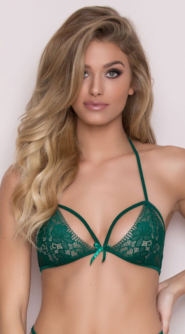Green With Envy Bralette by Popsi Lingerie