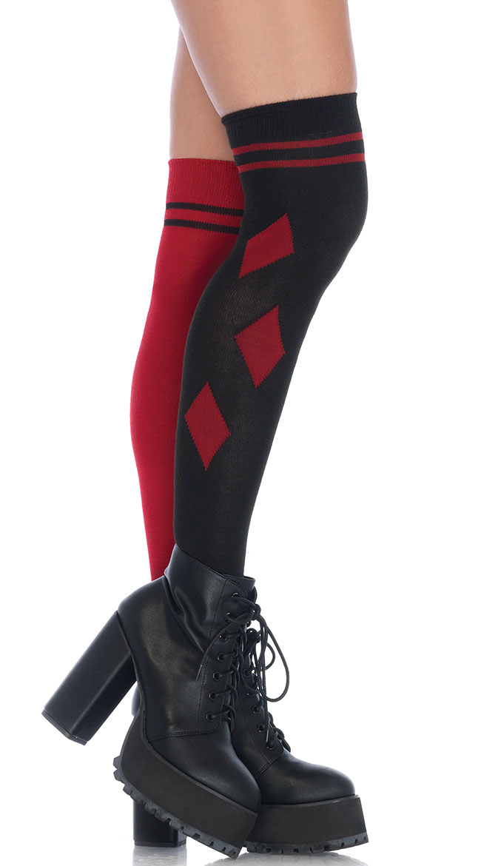Harlequin Thigh High Stockings by Leg Avenue