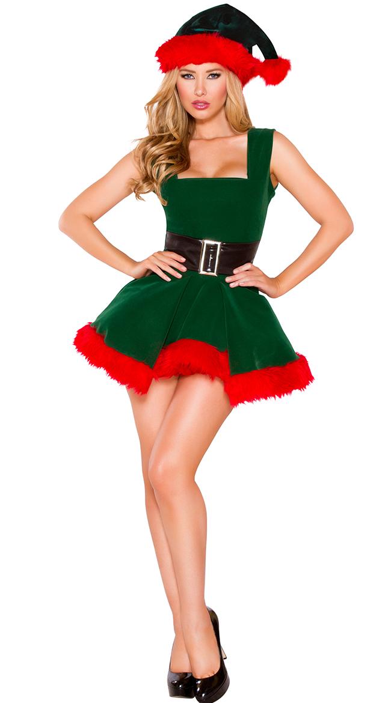 Head Elf Hottie Costume by Roma
