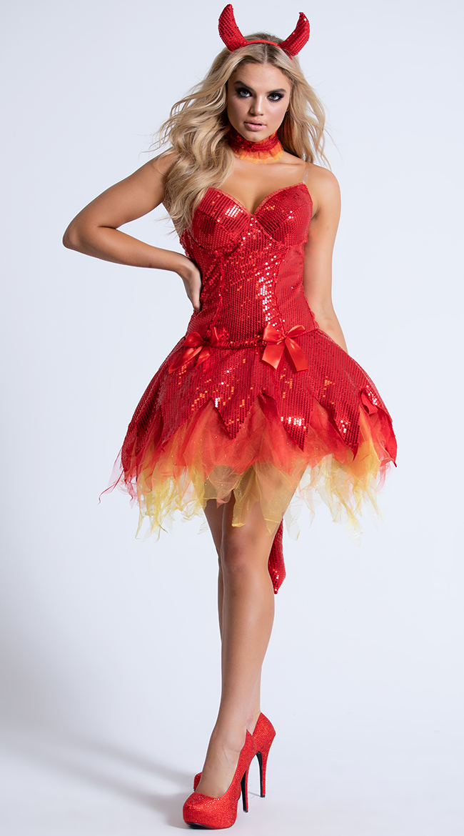 Hellfire Darling Devil Costume by Party King