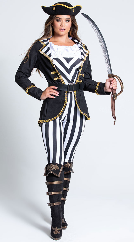High Seas Captain Costume by Music Legs