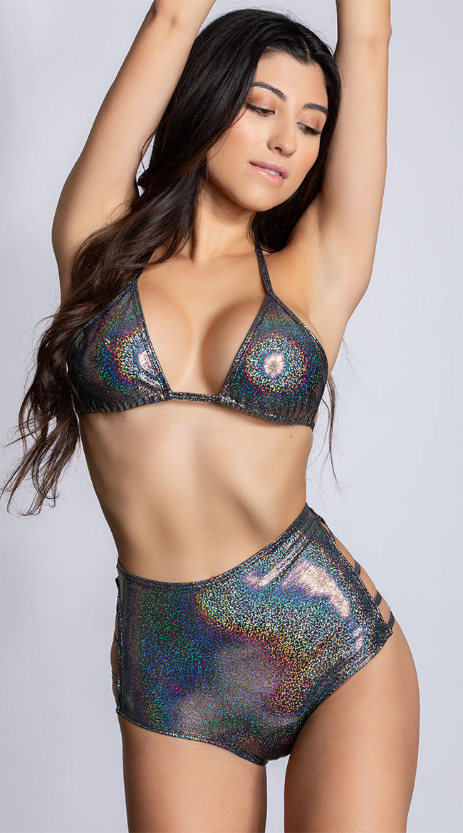 High Waisted Cage Twinkle Shorts by Midnight Ballerina