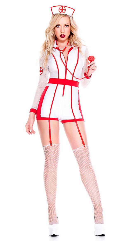 Hospital Risque Nurse Costume by Music Legs