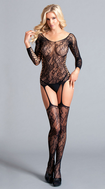 Hypnotize Me Lace Bodystocking by Be Wicked