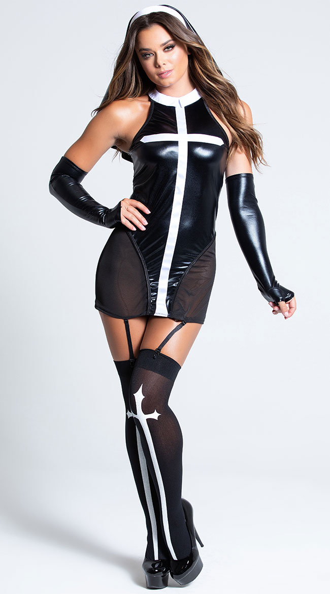 Immoral Nun Costume by Music Legs