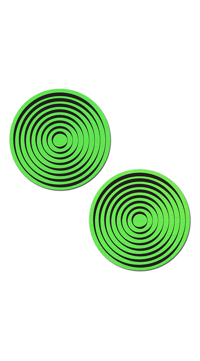 In A Trance Neon Green Spiral Pasties by Pastease - sexy lingerie