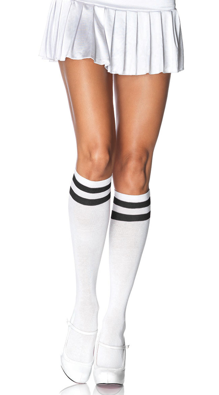 Knee High Athletic Socks by Leg Avenue
