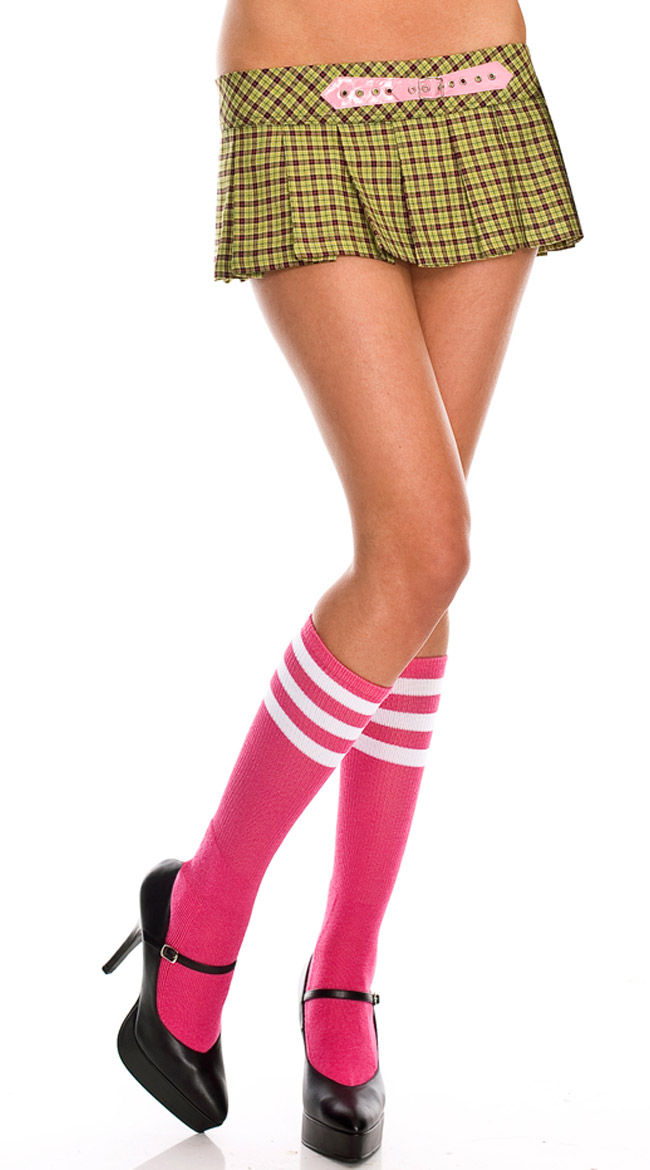 Knee Highs with Striped Top by Music Legs