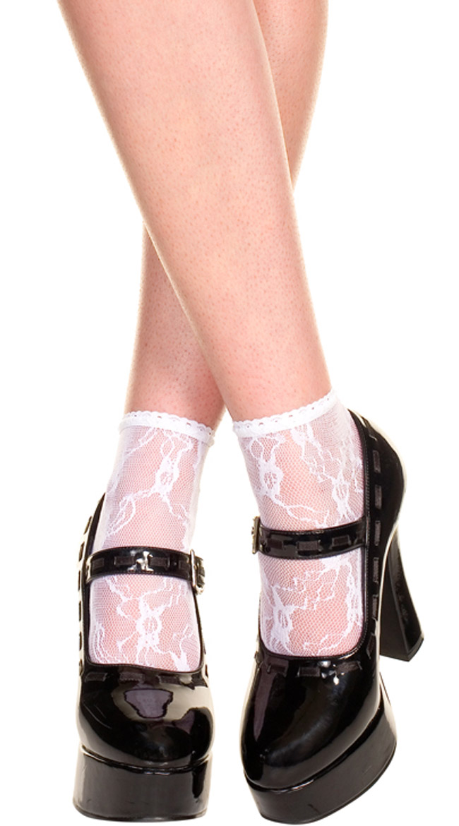 Lace Anklets by Music Legs