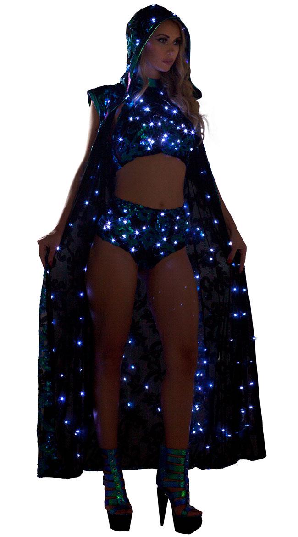 Light-Up Sequin Cloak by J Valentine