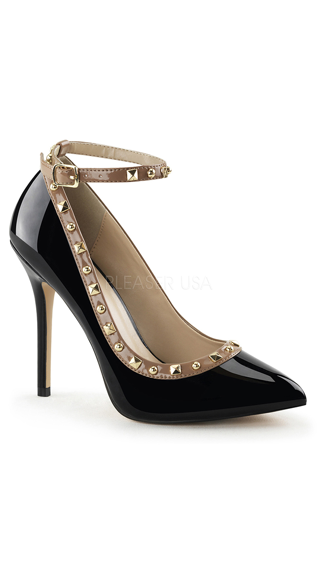 Like A Boss Studded Pumps by Pleaser