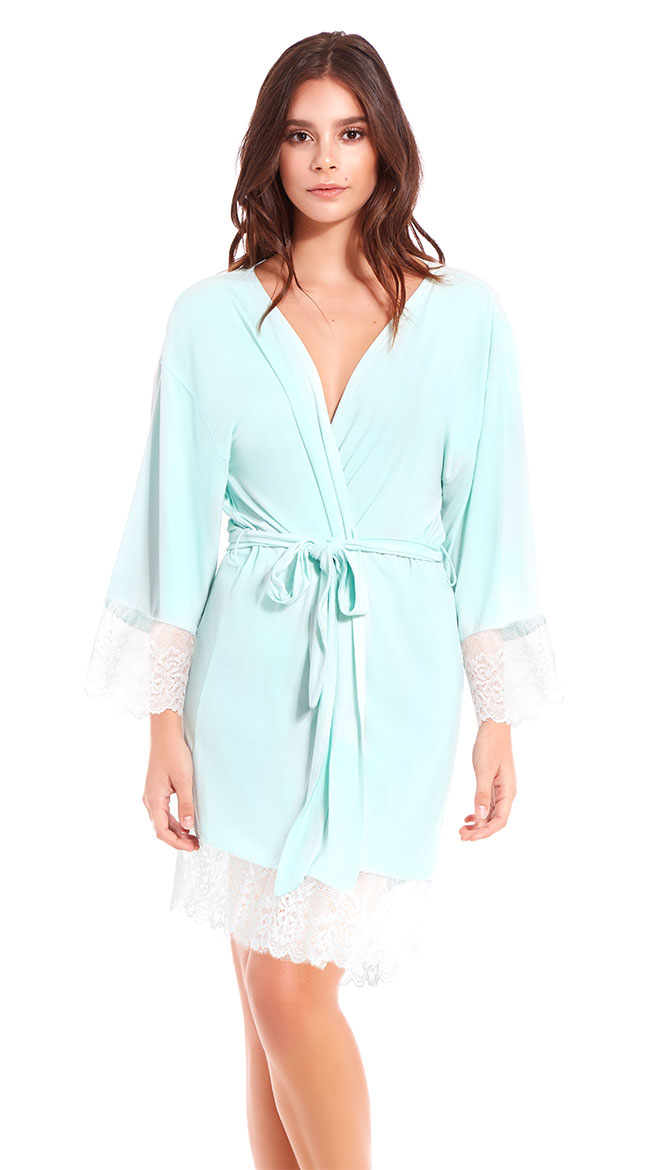 Long For Lace Robe by iCollection