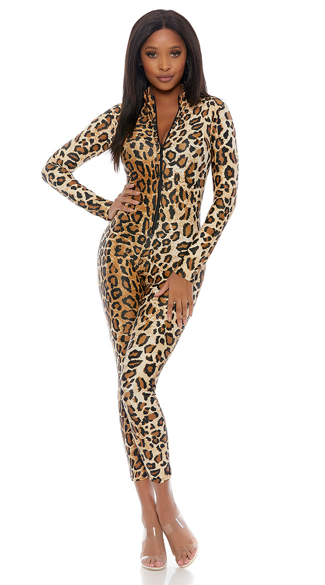 Lucky Leopard Jumpsuit by Forplay