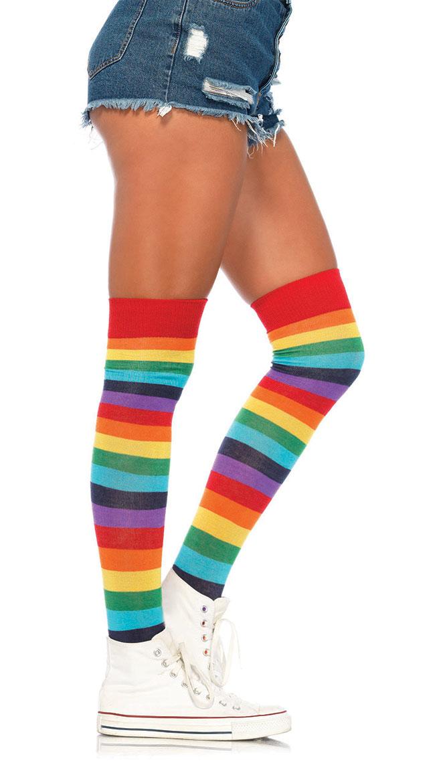 Lycra Rainbow Thigh High Stockings by Leg Avenue